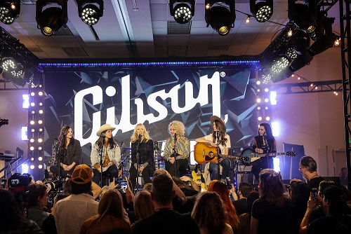 She Shreds Magazine Panel at the Gibson room at NAMM 2019