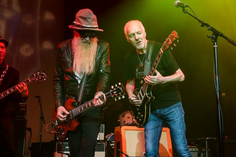 Billy Gibbons (ZZ Top) and Peter Frampton perform at Gibson Namm Jam 2019.