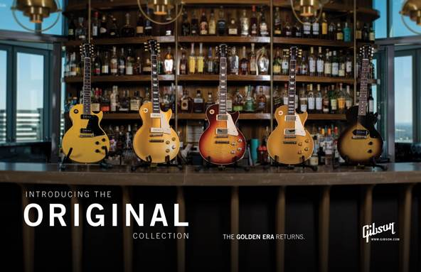 Gibson Announces NEW Original, Modern, and Custom Shop Collections
