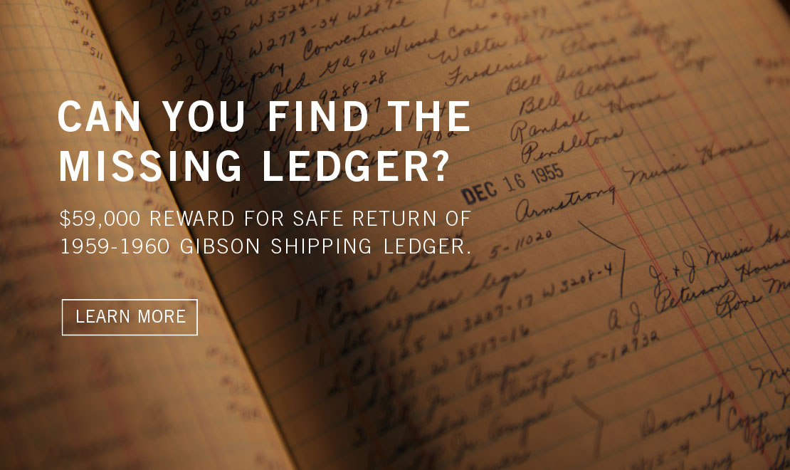 Can you find the missing 1959-1960 Gibson Ledger?