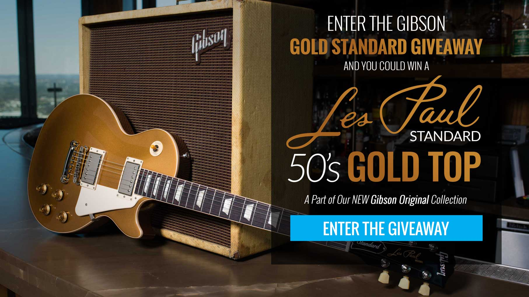 Enter to Win A New Gibson Original Les Paul Standard 50's Spec Gold Top!