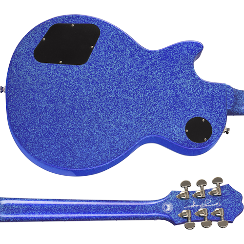 """Tommy Thayer """"Electric Blue"""" Les Paul Back and Neck"""