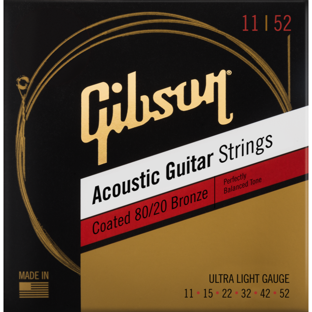 Coated 80/20 Bronze Acoustic Guitar Strings