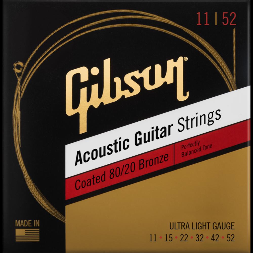Coated 80/20 Bronze Acoustic Guitar Strings