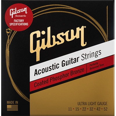 Coated Phosphor Bronze Acoustic Guitar Strings