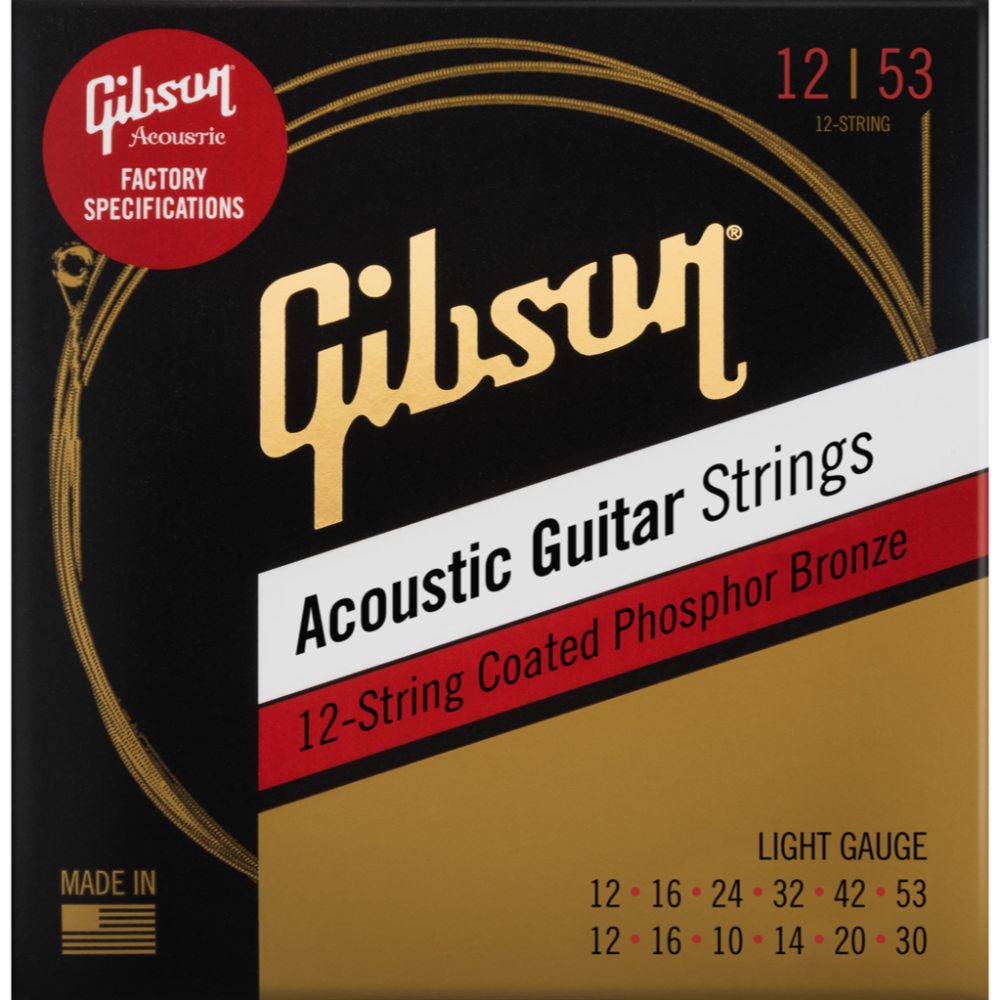 Coated Phosphor Bronze Acoustic Guitar Strings, 12-String Set