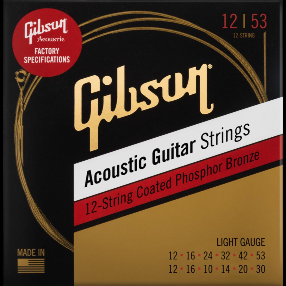Coated Phosphor Bronze Acoustic Guitar Strings, 12-String Set