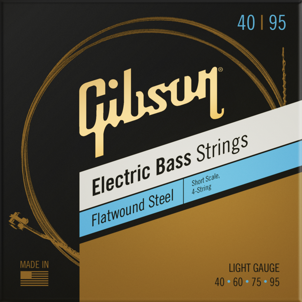 Flatwound Electric Bass Strings, Short Scale